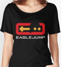 Eagle Jump - White Women's Relaxed Fit T-Shirt