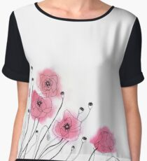 Poppies Chiffon Top