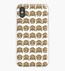 Monkey Evil Faces Emoji Collage iPhone Case
