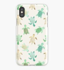 Gilded Jade & Mint Turtles iPhone Case