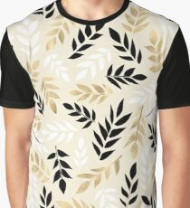Black, White & Gold Fronds Graphic T-Shirt