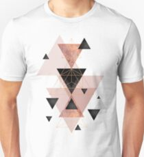 Geometric Triangles in blush and rose gold T-Shirt