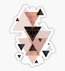 Geometric Triangles in blush and rose gold Sticker