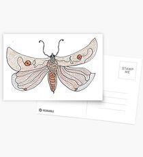 The Endangered Austyn Teal Moth (one-line #123) Postcards