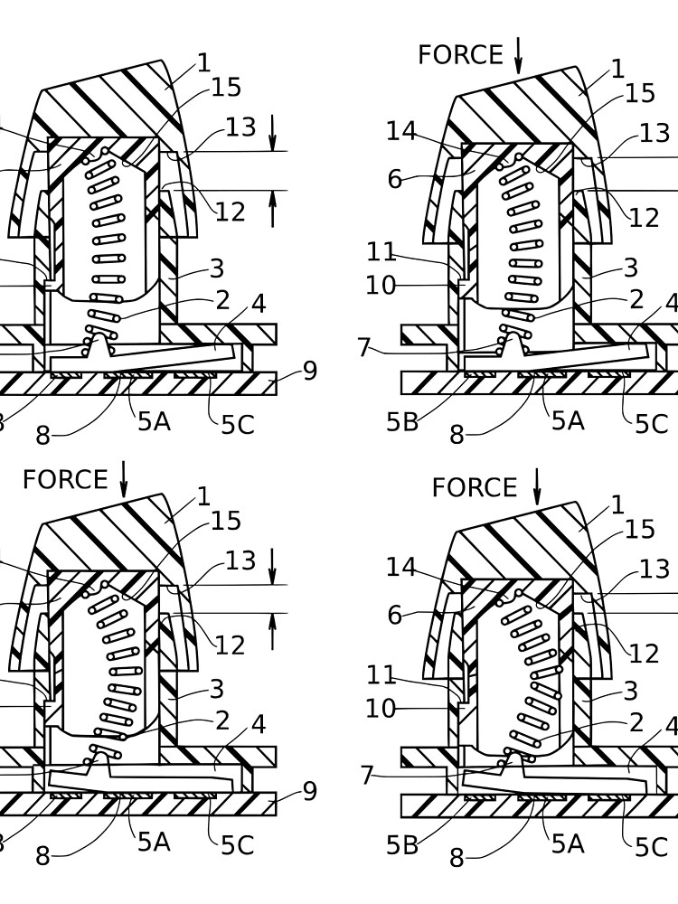 Buckling Spring Patent Drawing by deskthority