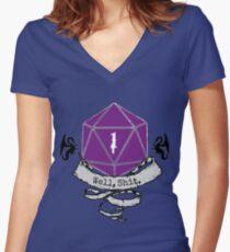Critical Fail Roll Women's Fitted V-Neck T-Shirt