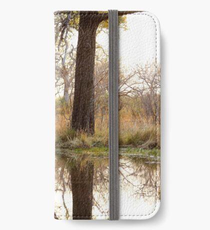 Waterhole at dusk iPhone Wallet