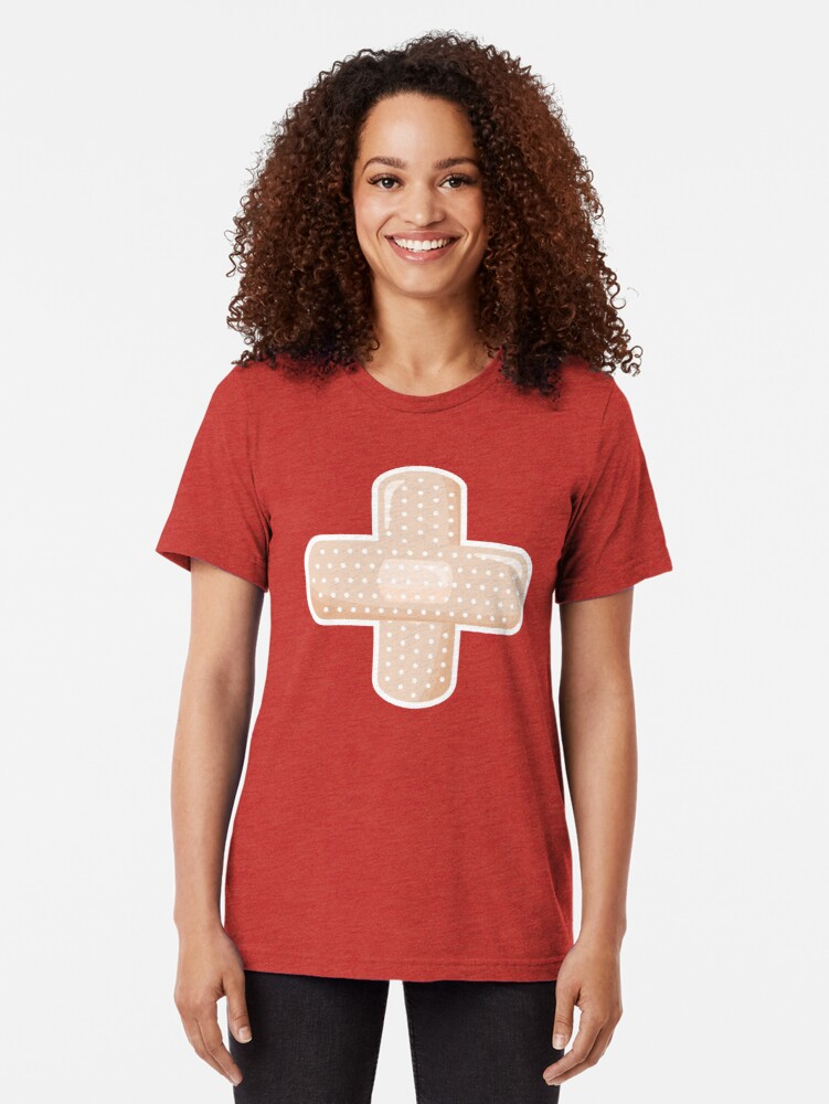 Alternate view of First Aid Plaster Tri-blend T-Shirt