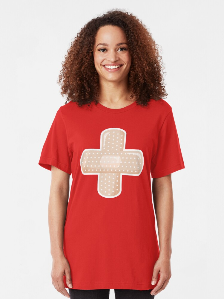 Alternate view of First Aid Plaster Slim Fit T-Shirt