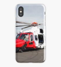 Coastguard rescue helicopter  iPhone Case/Skin