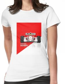 McLaren MP4/8 - Ayrton Senna front view Womens Fitted T-Shirt