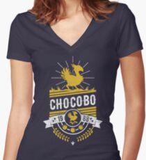 Camiseta entallada de cuello en V Chocobo