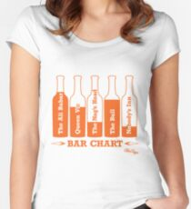 Bar Chart Women's Fitted Scoop T-Shirt