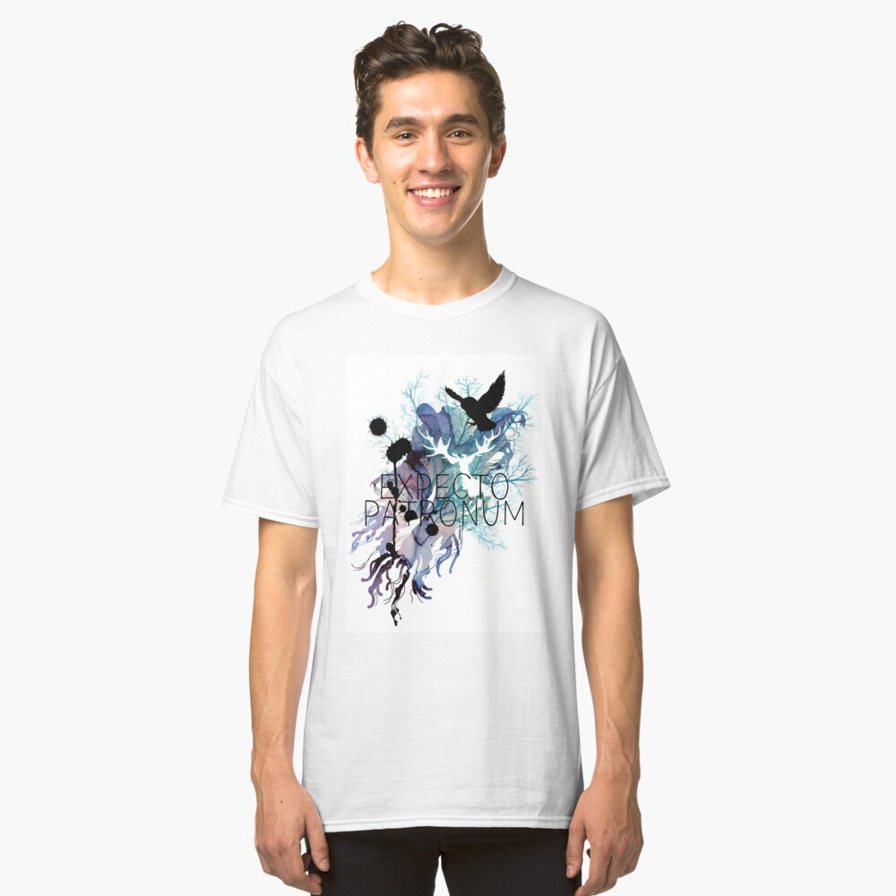 EXPECTO PATRONUM HEDWIG WATERCOLOUR Classic T-Shirt Front