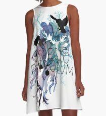 EXPECTO PATRONUM HEDWIG WATERCOLOUR A-Line Dress