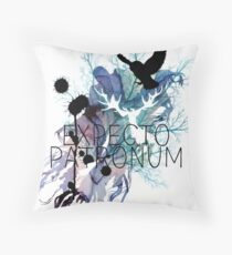 EXPECTO PATRONUM HEDWIG WATERCOLOUR Throw Pillow
