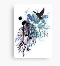 EXPECTO PATRONUM HEDWIG WATERCOLOUR Metal Print
