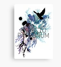 EXPECTO PATRONUM HEDWIG WATERCOLOUR Canvas Print