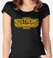 NOSTROMO ALIEN MOVIE STARSHIP (YELLOW) Women's Fitted Scoop T-Shirt