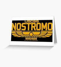 NOSTROMO ALIEN MOVIE STARSHIP (YELLOW) Greeting Card