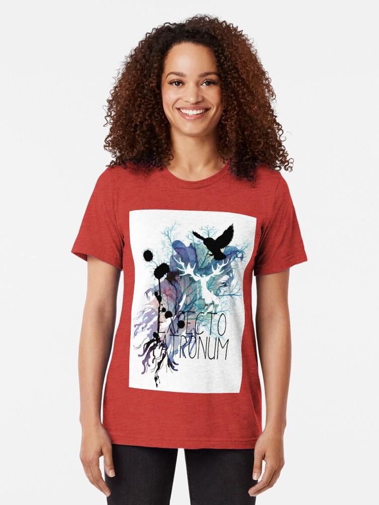 Vista alternativa de Camiseta de tejido mixto EXPECTO PATRONUM HEDWIG WATERCOLOR 2