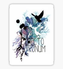 EXPECTO PATRONUM HEDWIG WATERCOLOUR 2 Sticker