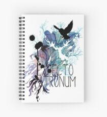 EXPECTO PATRONUM HEDWIG WATERCOLOUR 2 Spiral Notebook
