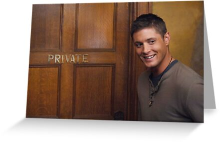 Jensen Ackles Smile Greeting Cards By Princessness Redbubble