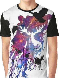 EXPECTO PATRONUM HEDWIG GALAXY Graphic T-Shirt