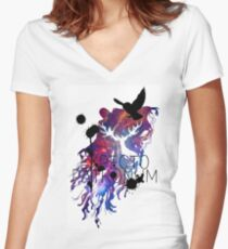 EXPECTO PATRONUM HEDWIG GALAXY 2 Women's Fitted V-Neck T-Shirt