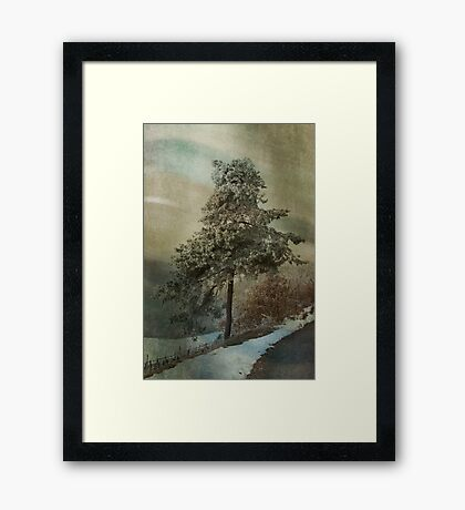 Just a tree Framed Print