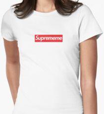 Supreme Meme = Suprememe Womens Fitted T-Shirt