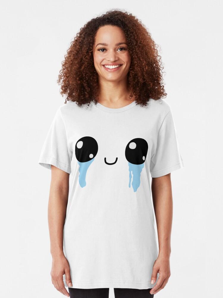 Alternative Ansicht von Isaac Speed Ball Gesicht Slim Fit T-Shirt