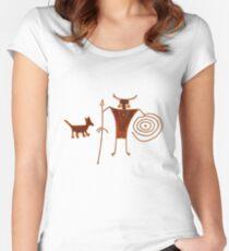 Hieroglyph Mans Best Friend Women's Fitted Scoop T-Shirt