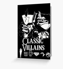 Classic Villains Greeting Card