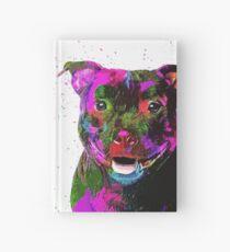 Staffordshire Bull Terrier Pop Art Portrait Hardcover Journal