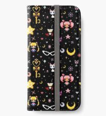 Sailor Moon family - Black iPhone Wallet/Case/Skin