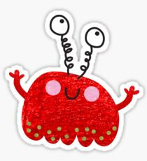Red jelly monster chick Sticker
