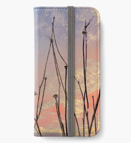 """""""Not a sparrow falls unknown to God's eye."""" iPhone Wallet"""