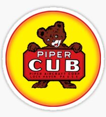 Piper Cub vintage Aircraft Sticker
