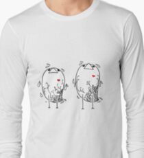 Little Birds with Red Hearts T-Shirt