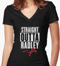 Straight Outta Radley Women's Fitted V-Neck T-Shirt