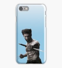 Pastel Blue Wolverine  iPhone Case/Skin