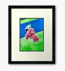 Pokemon Go Bang SlowBro Slowpoke Meme Framed Print
