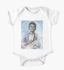 John Mayer in watercolor.  Short Sleeve Baby One-Piece