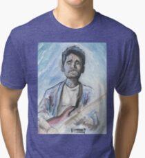 Camiseta de tejido mixto John Mayer en acuarela.
