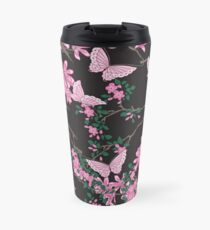 Oriental birds, flowers and butterflies Travel Mug