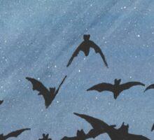 Bats in the night sky Sticker