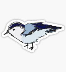 lil blue bird Sticker