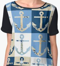 Anchors Ahoy Women's Chiffon Top
